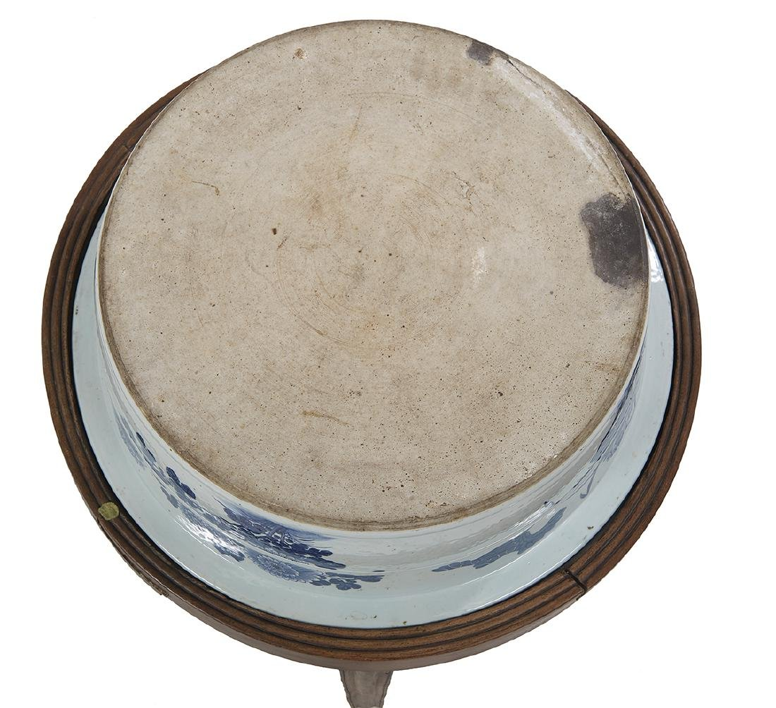 Chinese Export Blue and White Basin/Table - 3