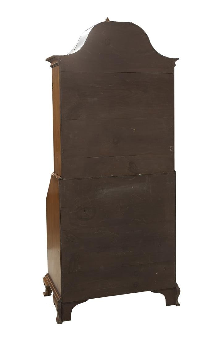 American Chippendale-Style Tiger Maple Secretary - 4