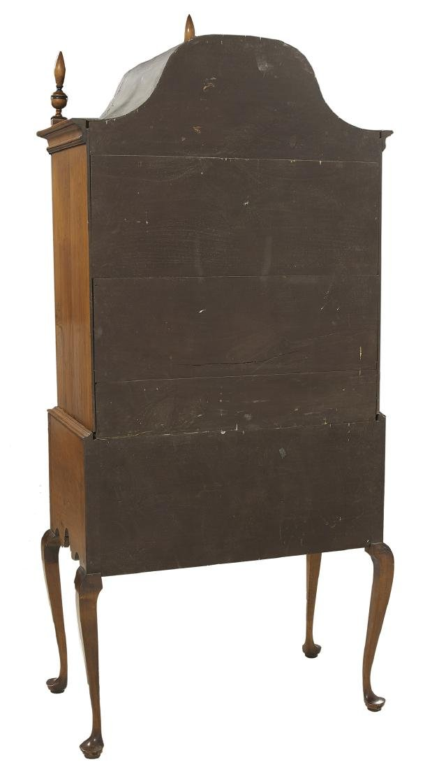 American Queen Anne-Style Tiger Maple High Chest - 3
