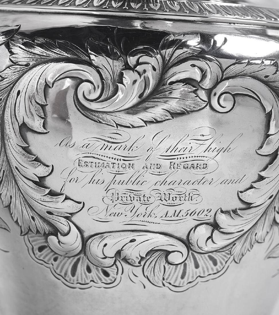 American Coin Silver Pitcher of Jewish Interest - 3