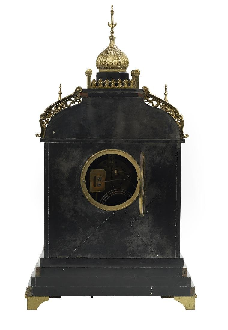 French Marble and Bronze Japy Freres Mantel Clock - 2