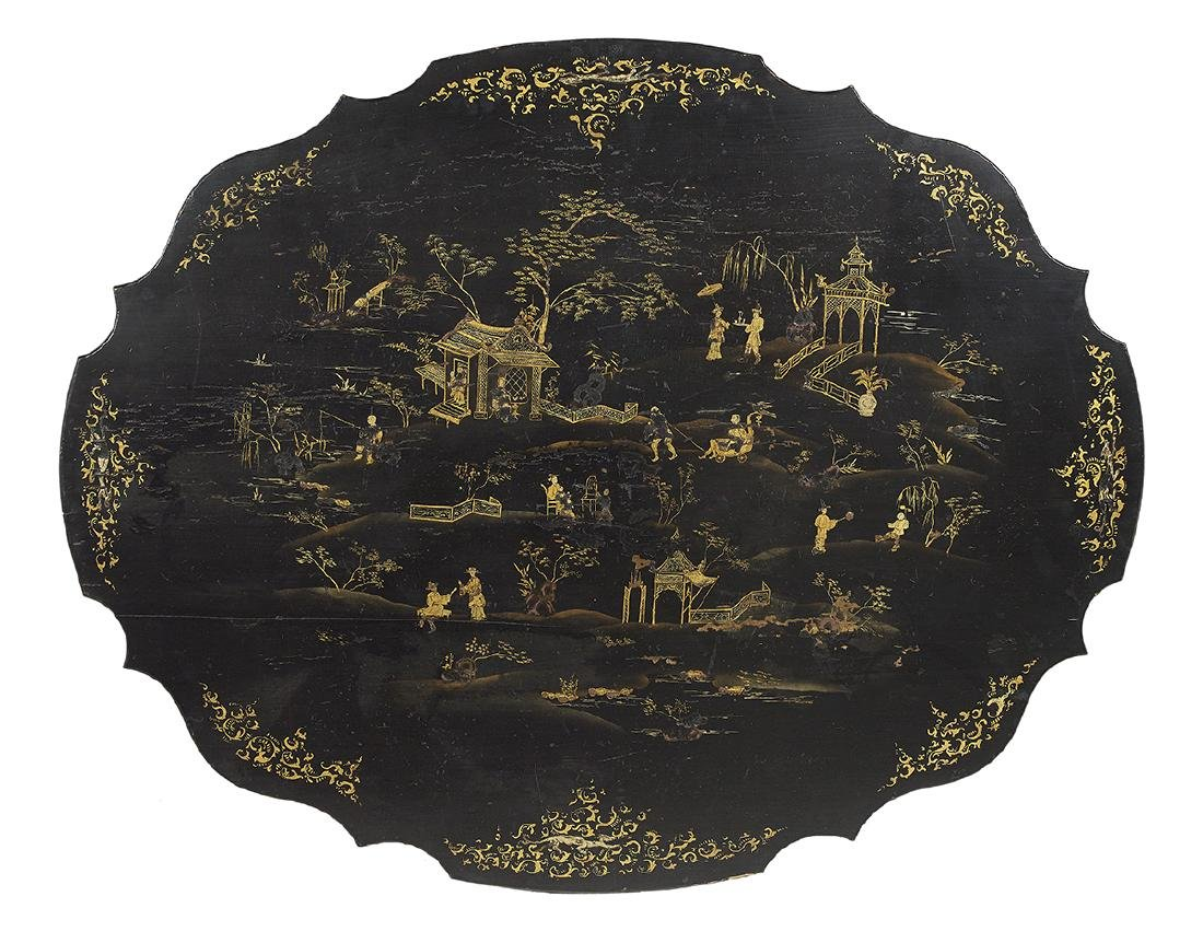 Victorian Chinoiserie-Decorated Center Table - 2