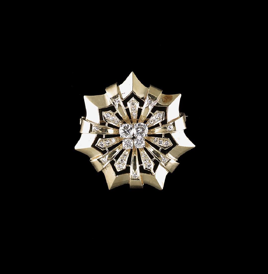 Diamond Starburst Brooch