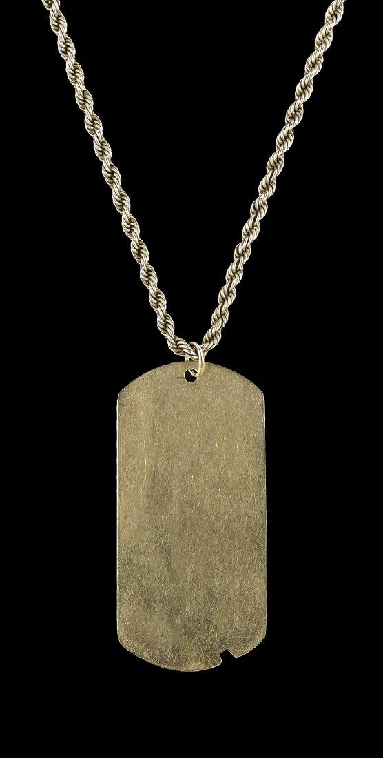 Gold Dog Tag on Chain