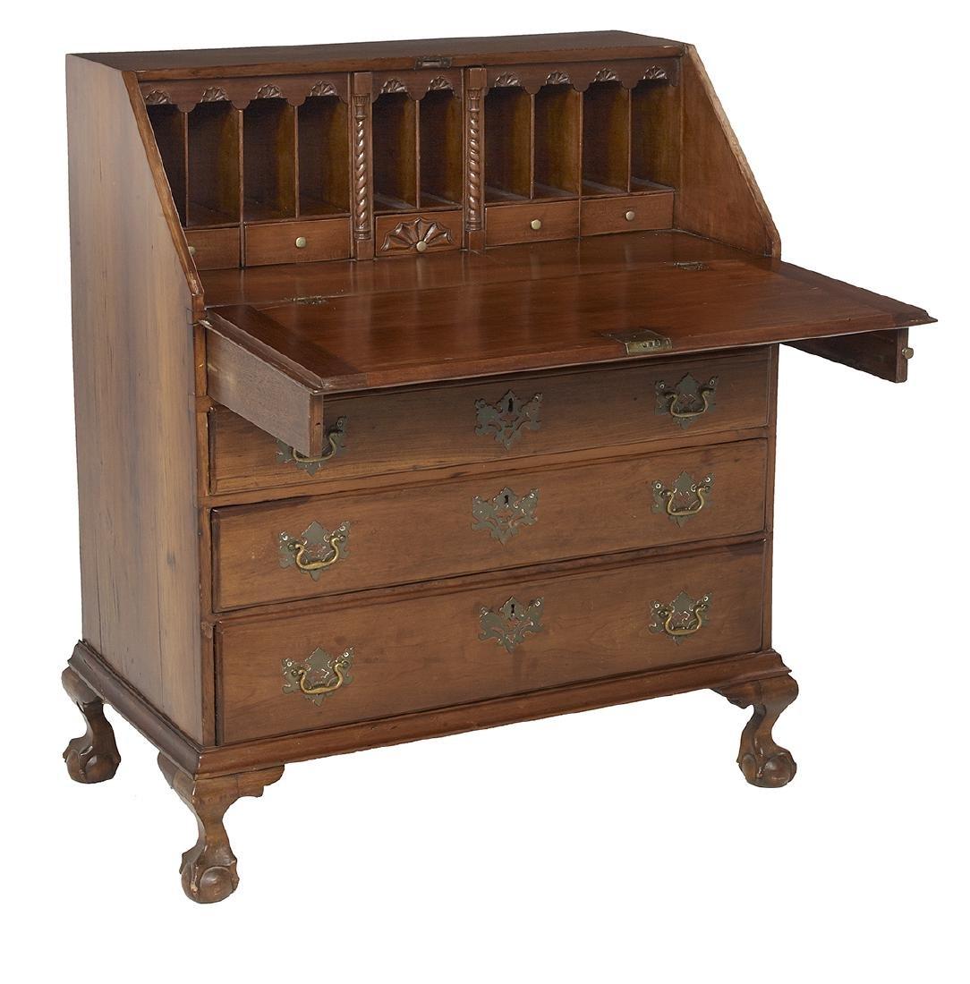 American Chippendale Cherry Slant-Lid Desk - 2