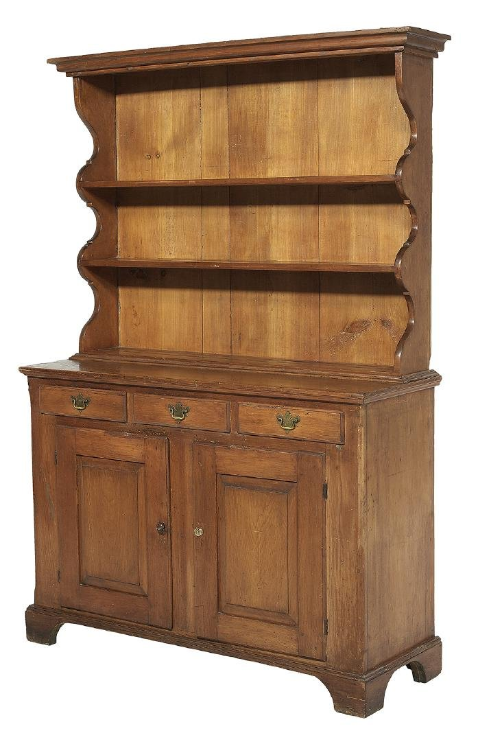 Early American Pine Step-back Pewter Cupboard - 2