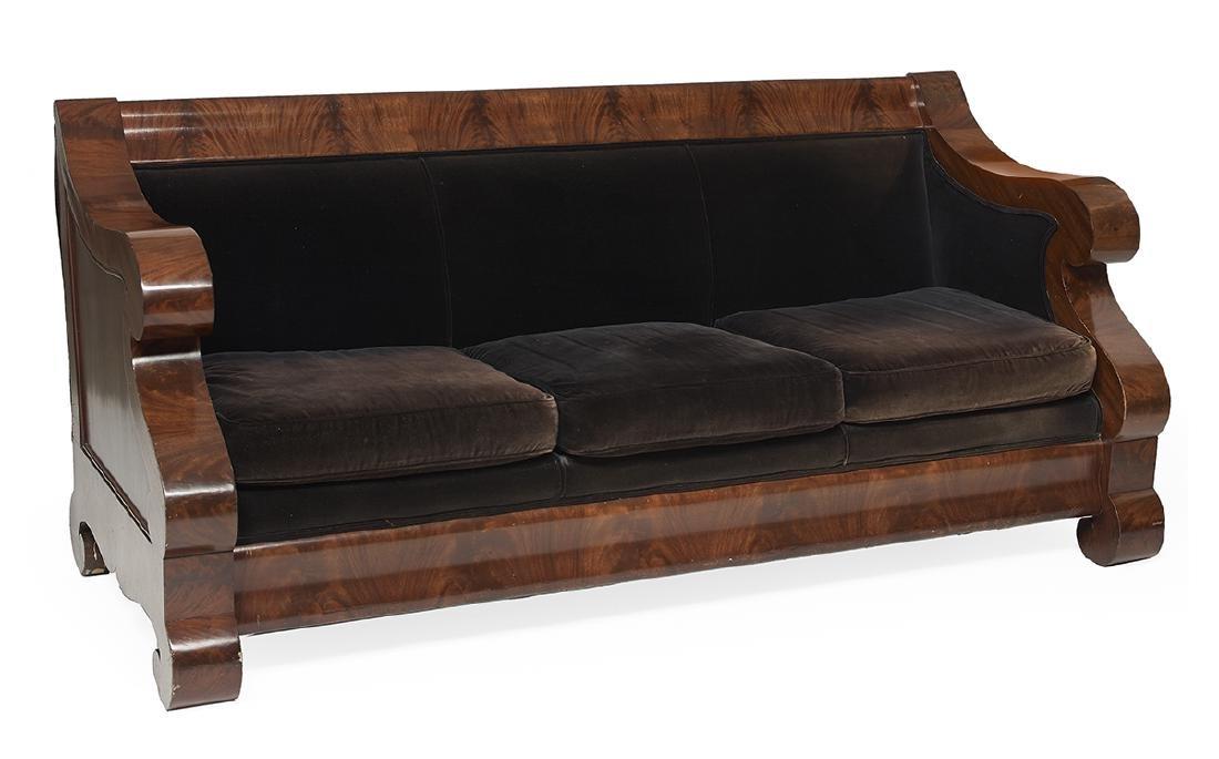 American Late Classical Mahogany Sofa