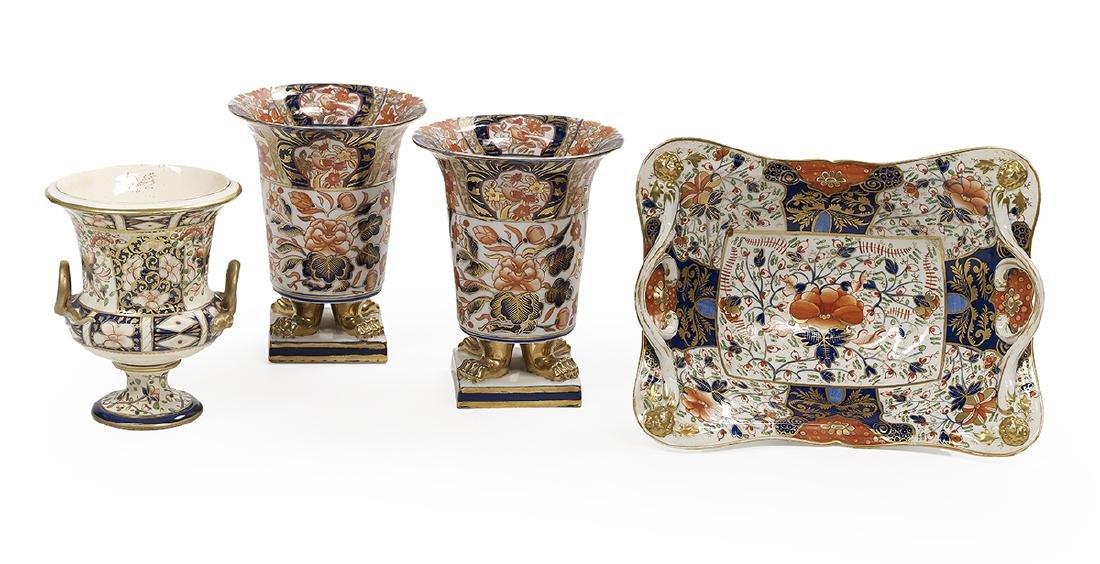 Four-Piece Collection of Imari Porcelain