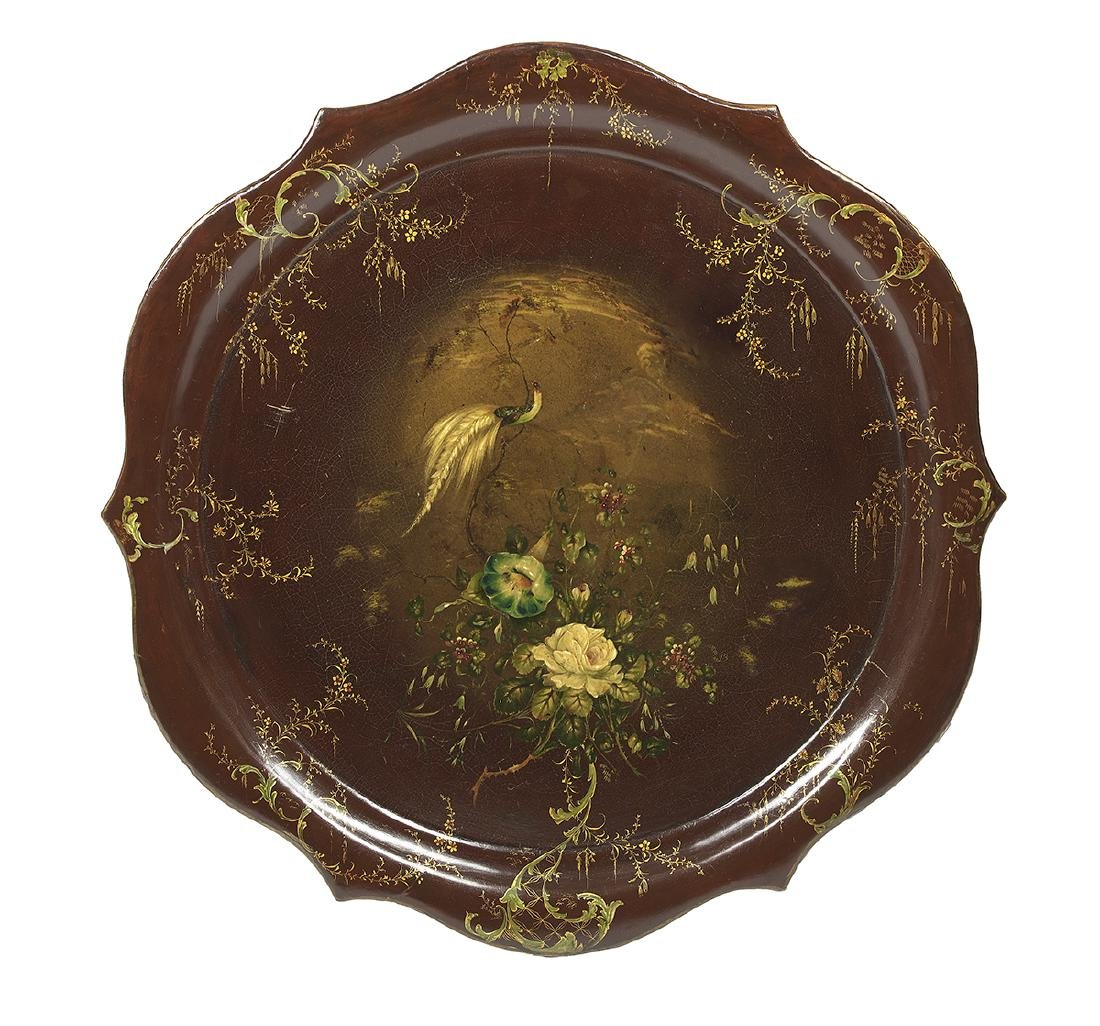 Victorian Papier-Mache Tray on a Custom Stand - 2