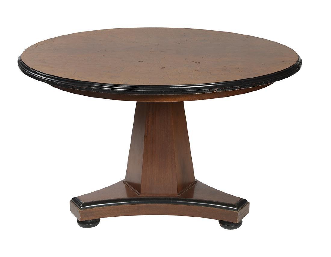 Regency-Style Figured Elm Center Table