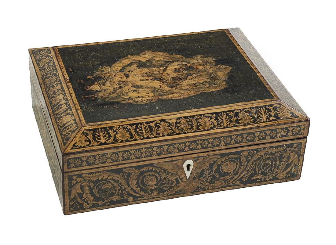 Regency Penwork Work Box