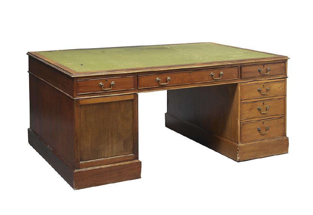 George III Mahogany Partner's Desk