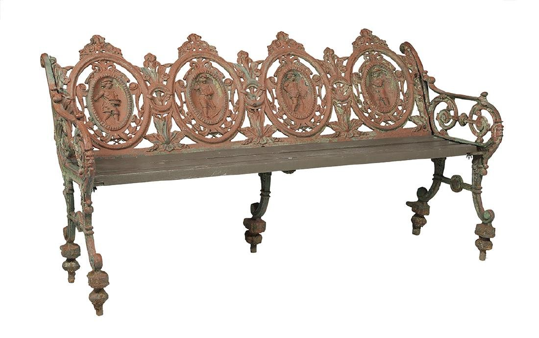 Coalbrookdale-Type Cast Iron Garden Bench