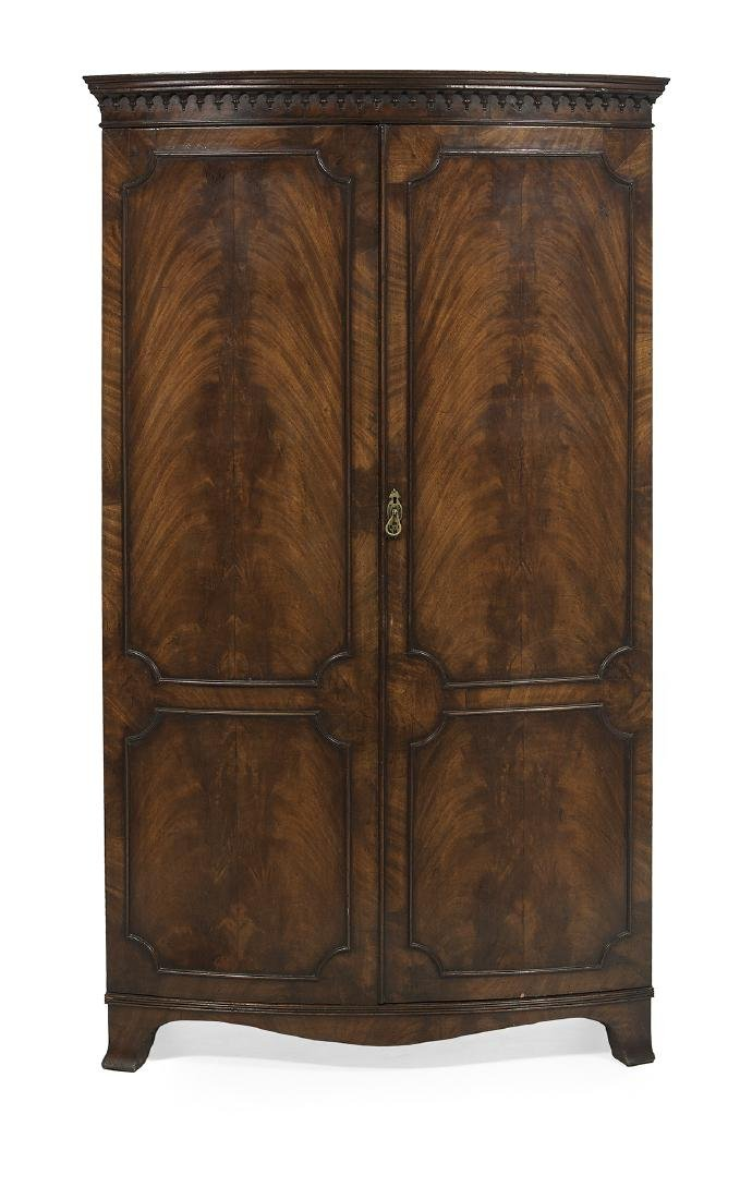 George III-Style Mahogany Bowfront Cabinet