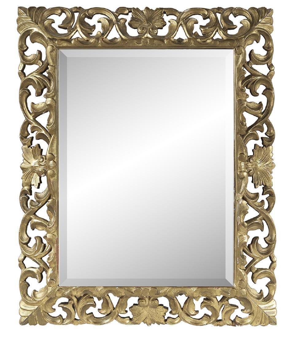 Spanish Baroque Style Giltwood Mirror