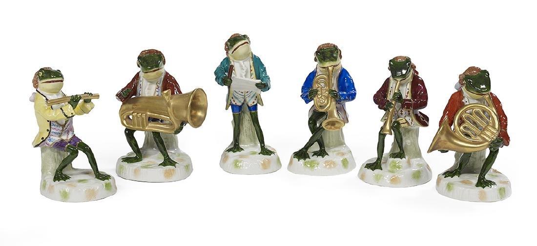 Amusing Six-Piece Porcelain Frog Band