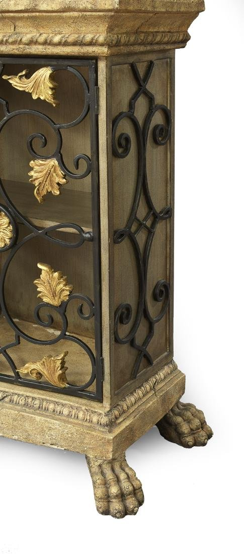 Italian Wrought-Metal and Faux Stone Cabinet - 4