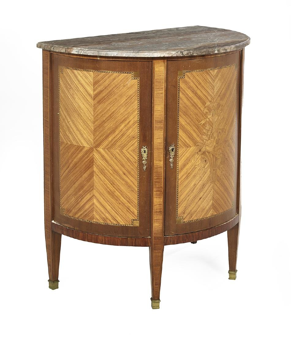 Continental Kingwood and Marble-Top Cabinet - 2