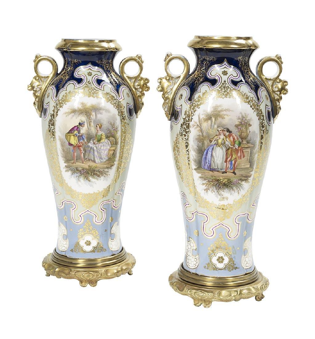 Pair of Bohemian Vases in the Orientalist Taste