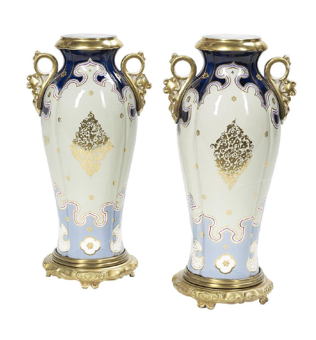 Pair of Bohemian Vases in the Orientalist Taste - 2