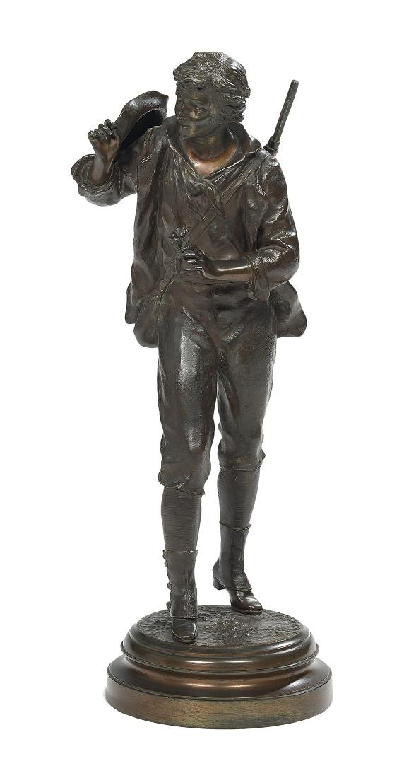 French Patinated Bronze of a Hunter