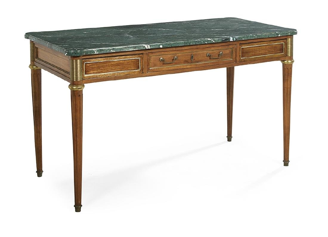 Louis XVI-Style Mahogany and Marble-Top Table - 2
