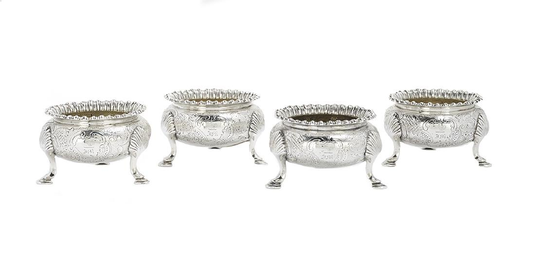 Eight Georgian/Victorian Silver Salt Cellars - 2