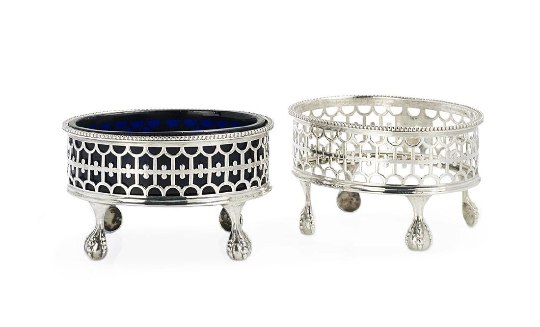 Eight Georgian/Victorian Silver Salt Cellars - 3