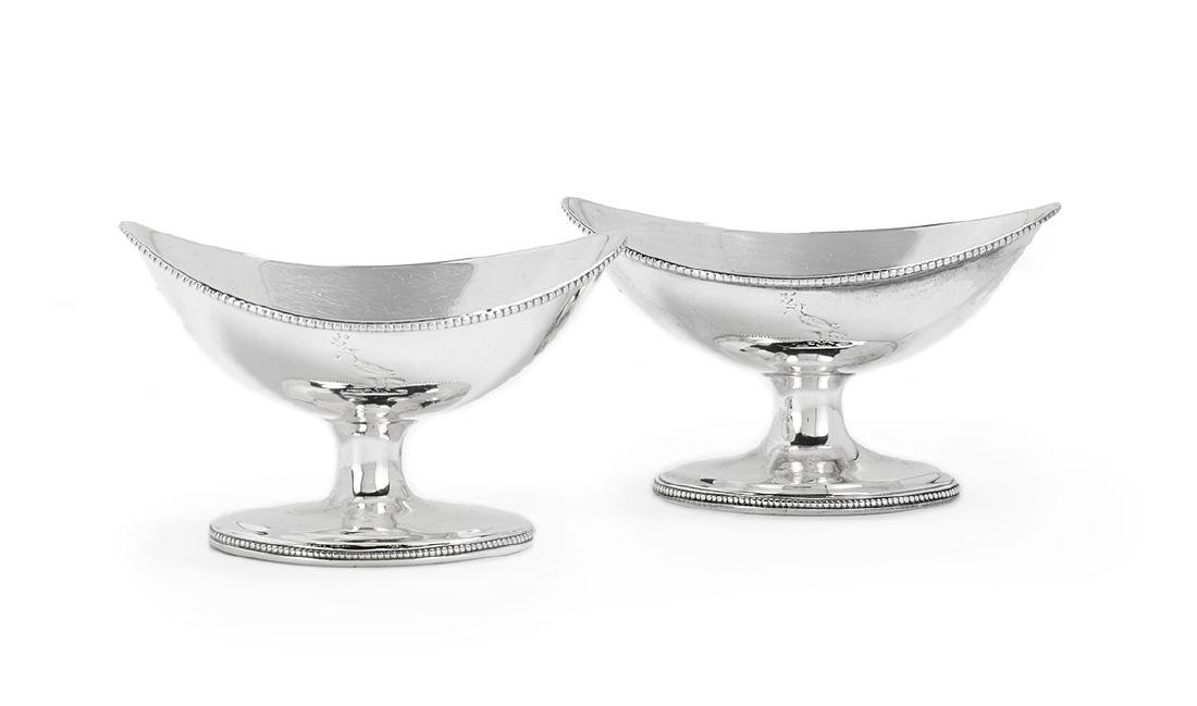 Eight Georgian/Victorian Silver Salt Cellars - 4