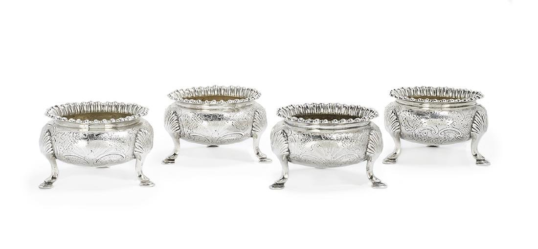 Eight Georgian/Victorian Silver Salt Cellars - 5