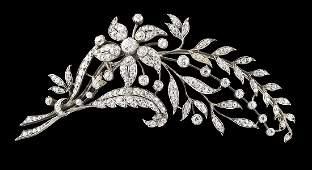 Beautiful Edwardian Diamond Brooch