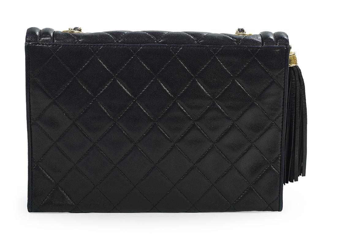 Chanel Black Lambskin Tassel Shoulder Handbag - 2