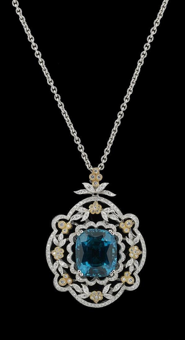 Apatite and Diamond Necklace