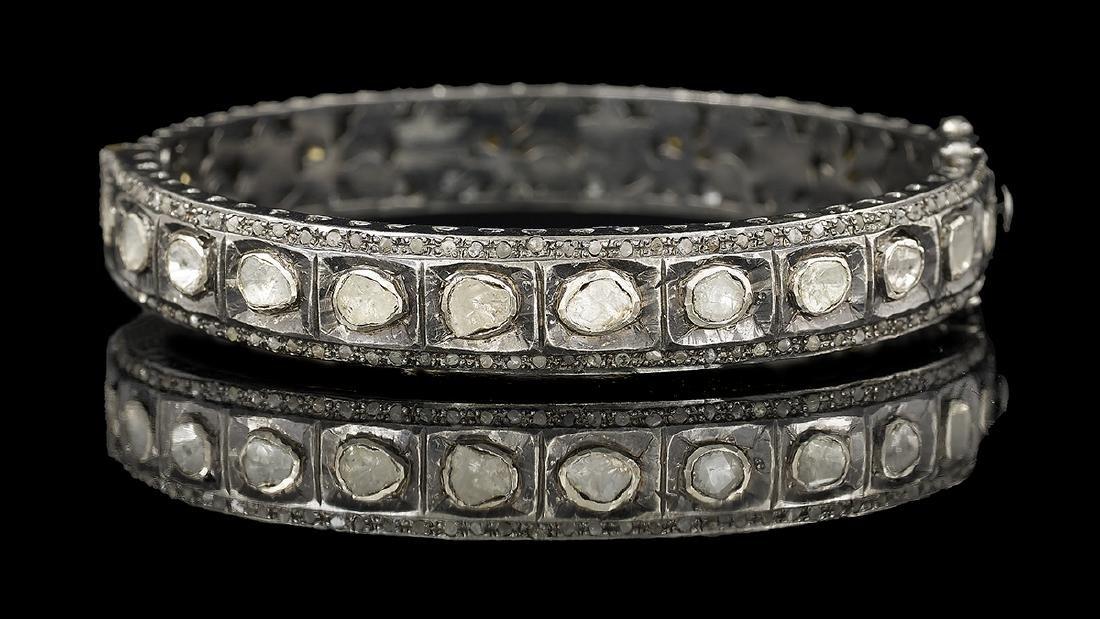 Diamond Bangle Bracelet and Earrings - 2