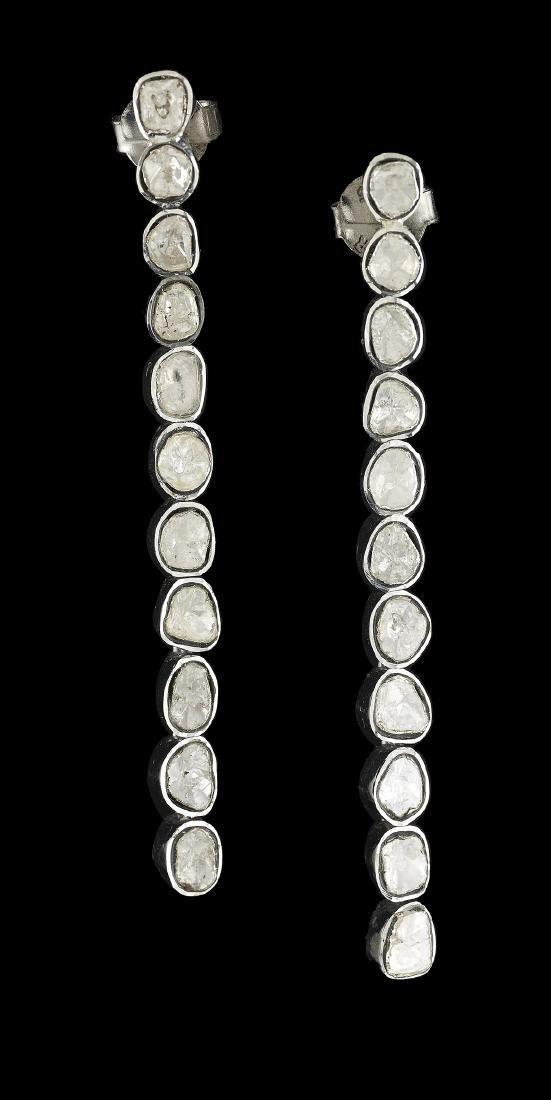 Diamond Bangle Bracelet and Earrings - 3