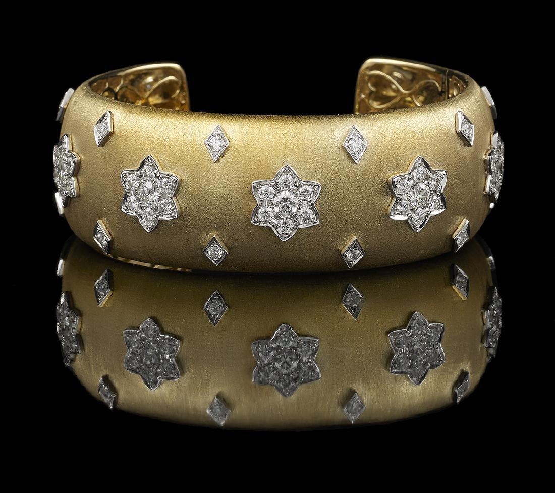 Buccellati-Style Diamond Bracelet