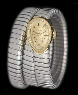 "Lady's Bvlgari ""Tubogas"" Wrist Watch"