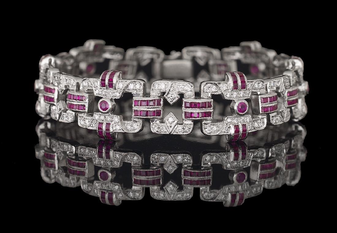 Le Vian Diamond and Ruby Bracelet