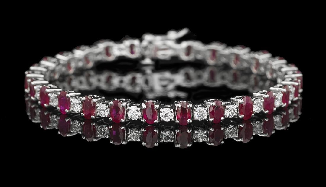 Ruby and Diamond Tennis Bracelet