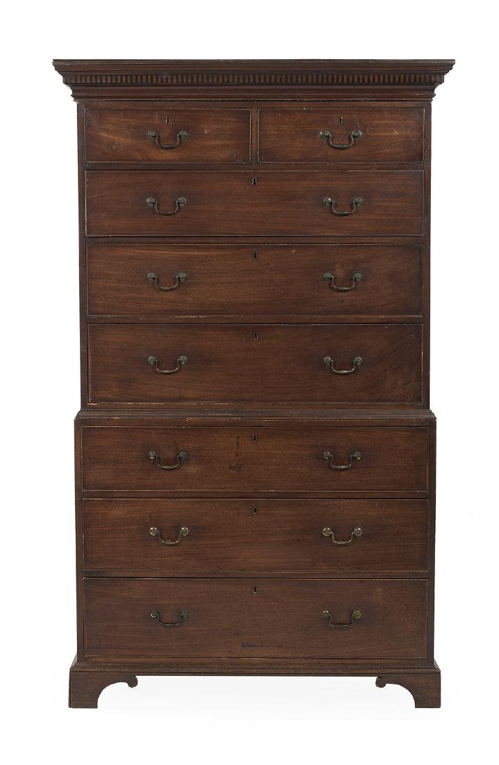 George III Mahogany Chest-On-Chest