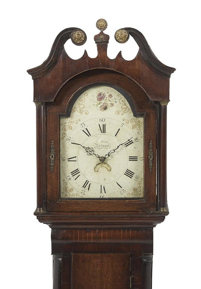 George III Oak and Mahogany Tall Case Clock - 2
