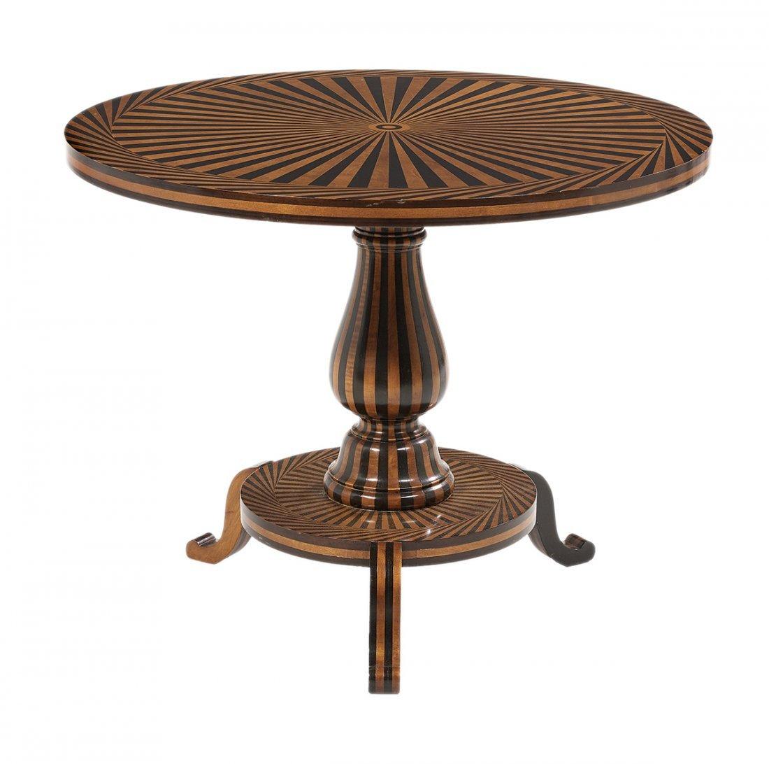 Biedermeier-Style Fruitwood Center Table