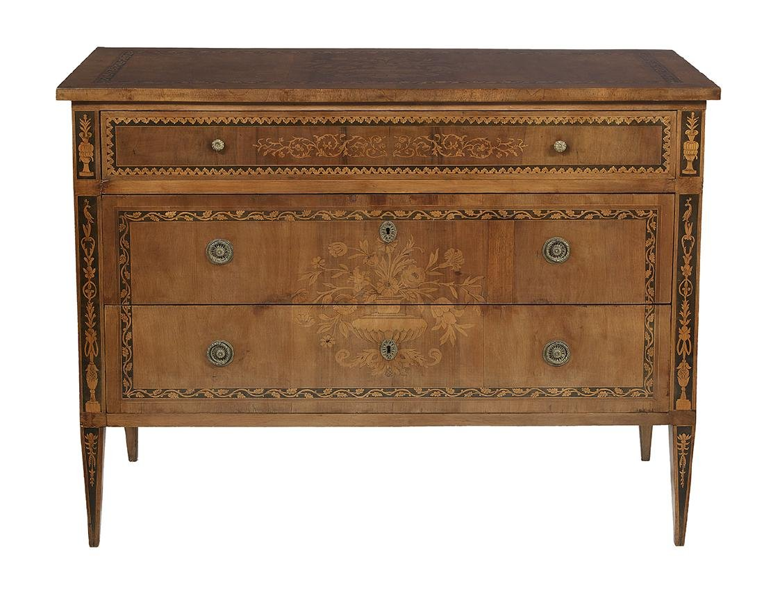 Italian Neoclassical Walnut Commode