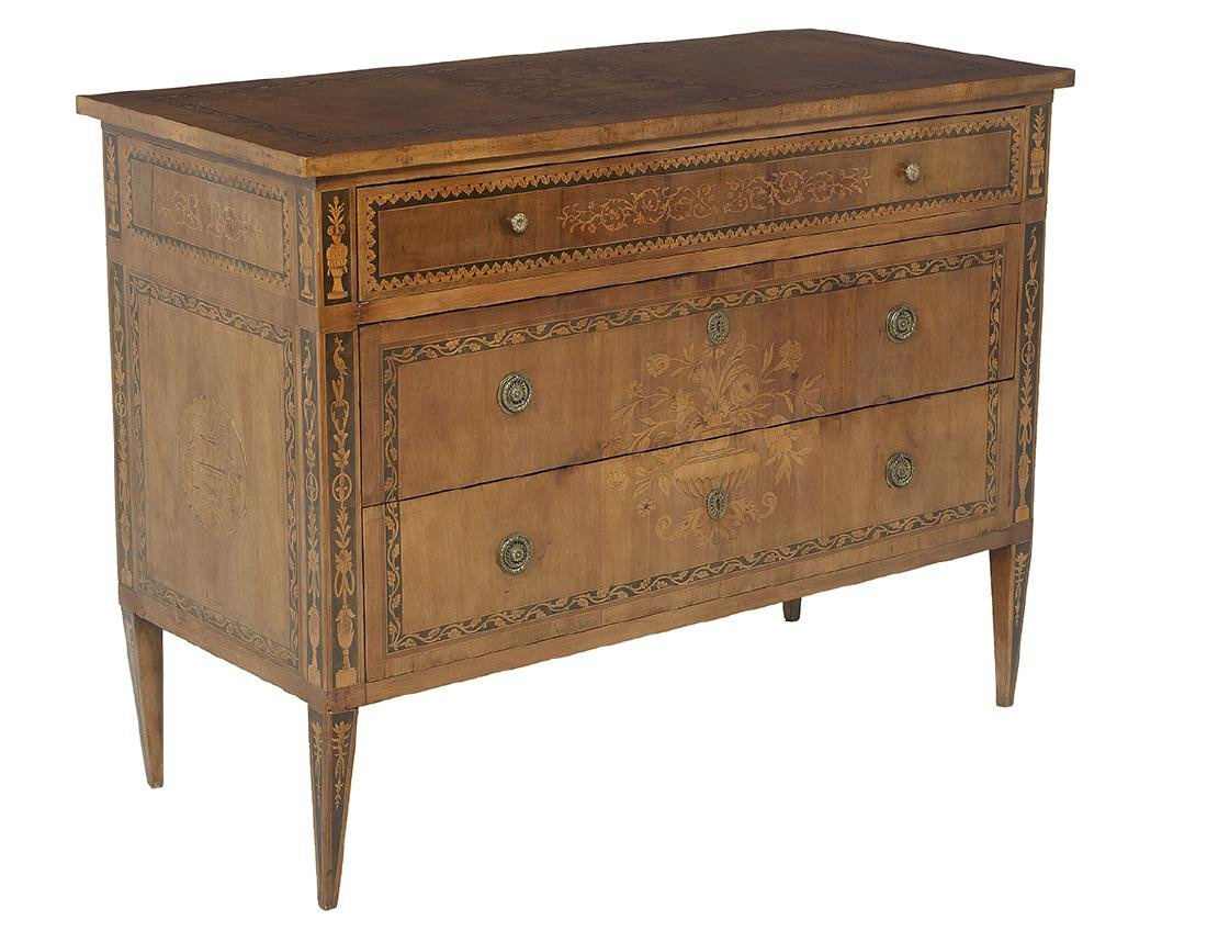 Italian Neoclassical Walnut Commode - 2