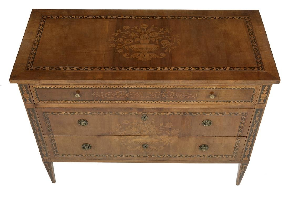 Italian Neoclassical Walnut Commode - 3