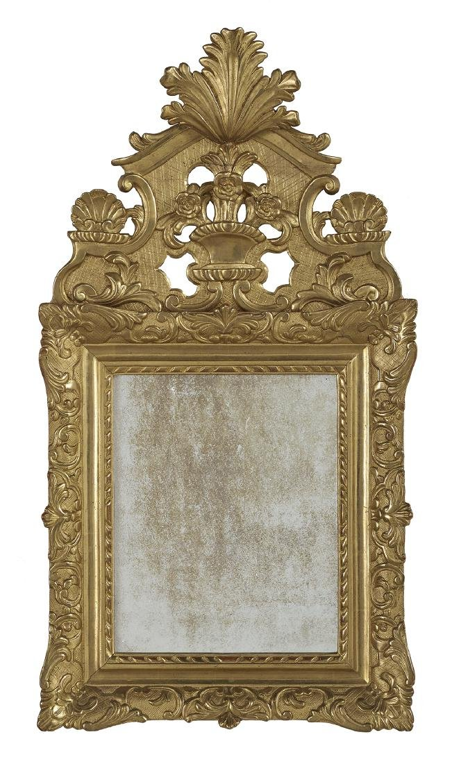 French Baroque-Style Giltwood Mirror