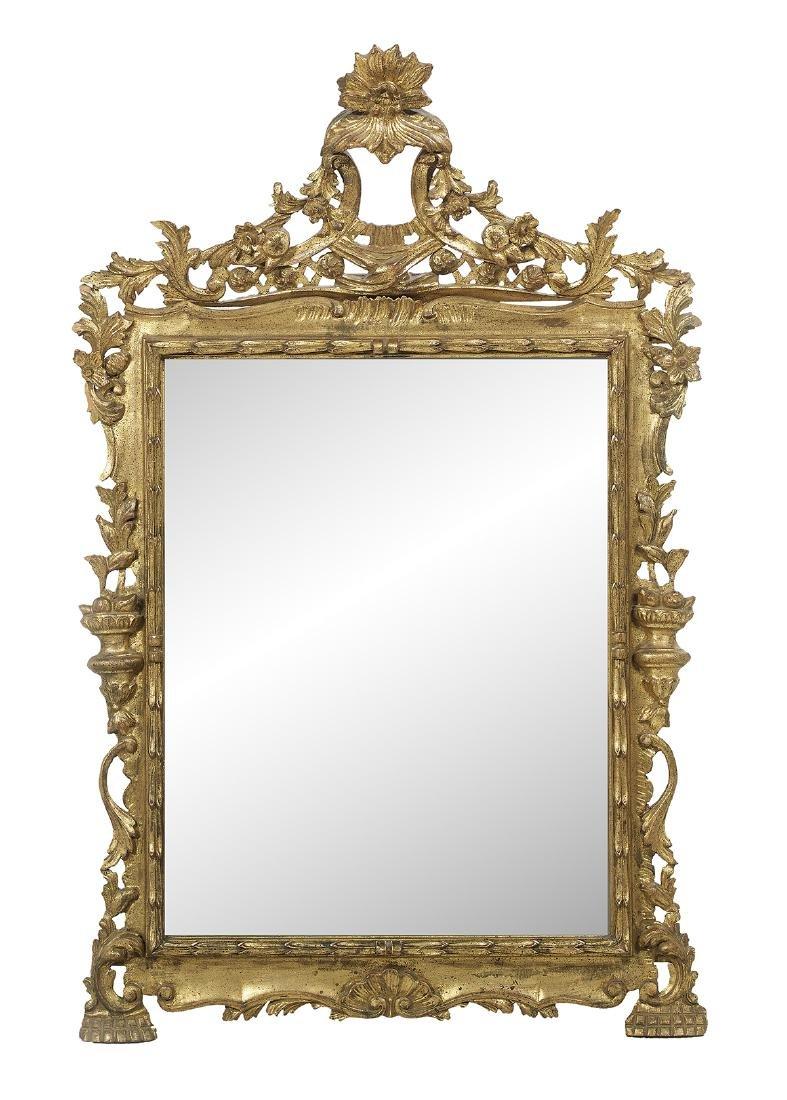 Pair of Italian Rococo-Style Giltwood Mirrors - 2