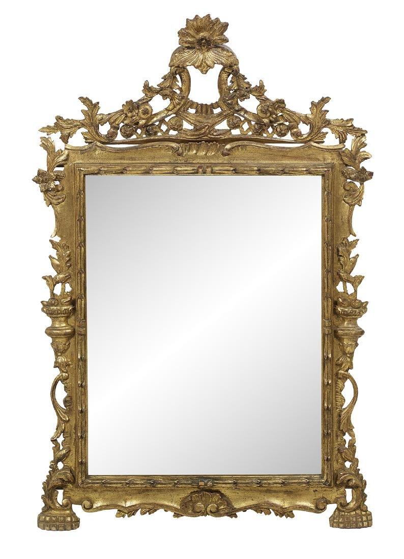 Pair of Italian Rococo-Style Giltwood Mirrors - 3