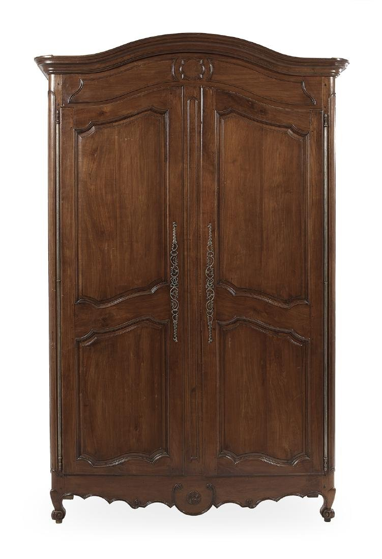 French Provincial Cherrywood Armoire