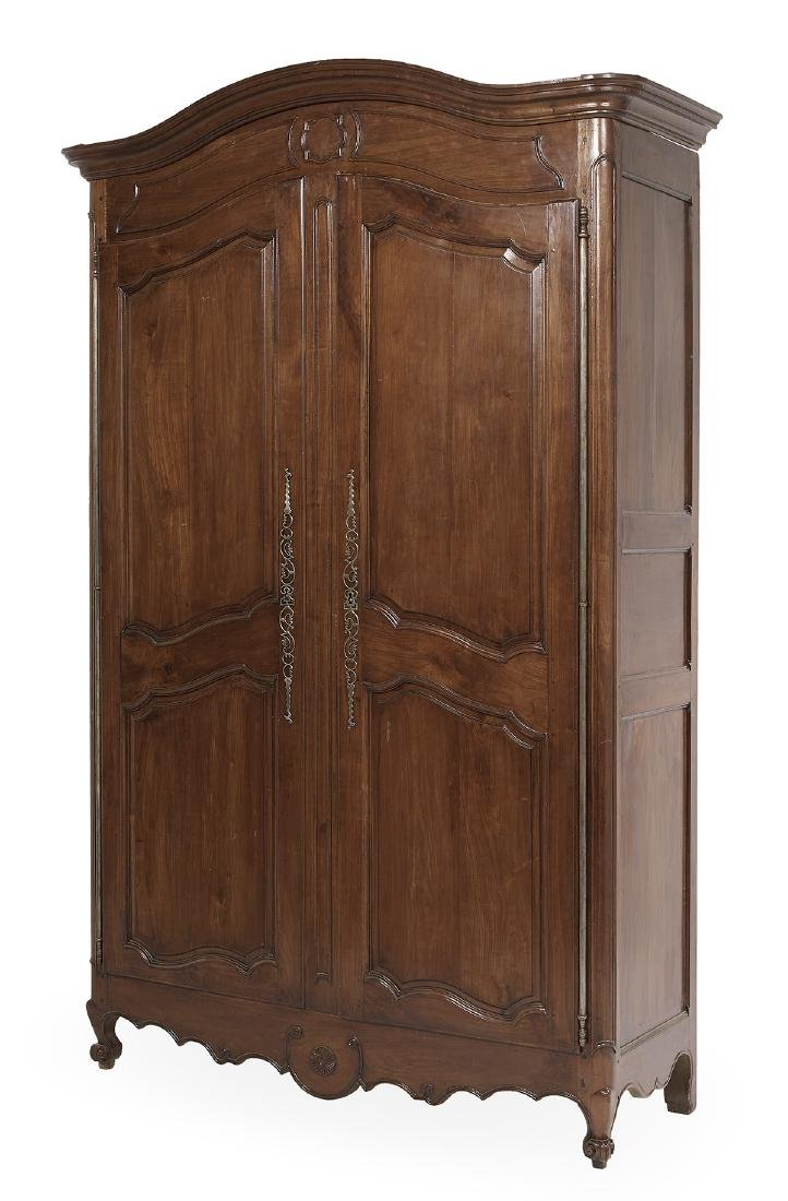 French Provincial Cherrywood Armoire - 2